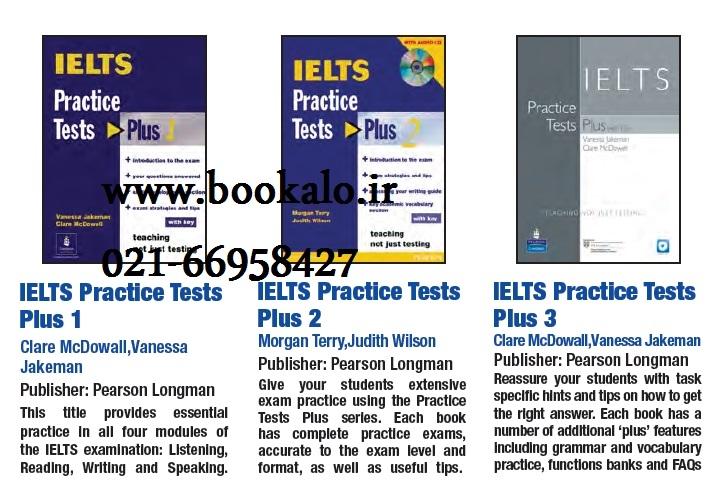 مجموعه 3 جلدی کتاب آیلتس پرکتیس تست پلاس IELTS Practice Tests Plus