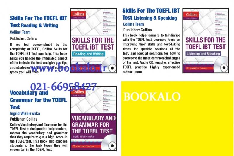 مجموعه 3 جلدی کالینز اسکیلز فور د تافل  Collins Skills for The TOEFL iBT Test