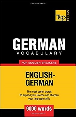 کتاب German vocabulary for English speakers - 9000 words