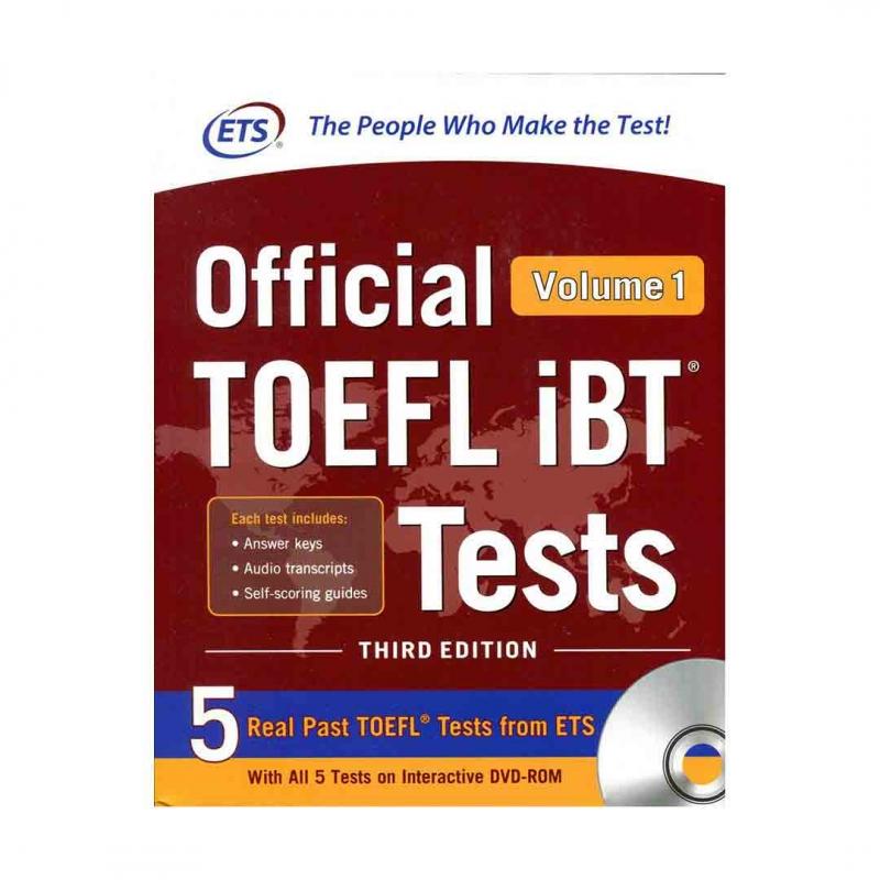 کتاب زبان ETS Official TOEFL iBT Tests 3rd - Volume 1+ DVD