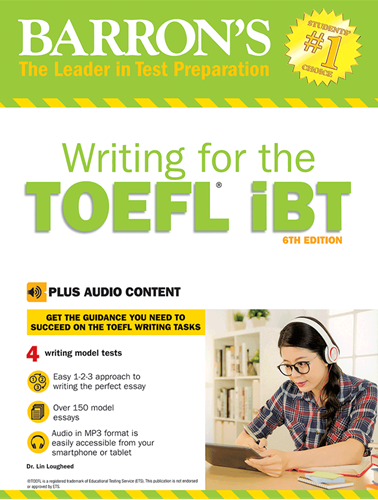 کتاب زبان Barrons Writing for the TOEFL IBT 6th+CD