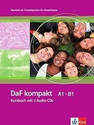 کتاب آلمانی داف کامپکت DaF kompakt Kursbuch + Ubungsbuch A1 - B1 رنگی