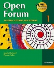 کتاب زبان Open Forum 1 Student Book with Test Booklet & CD