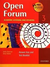 کتاب زبان Open Forum 3 Student Book with Test Booklet & CD