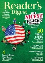 مجله ریدر دایجست Readers Digest The nicest places in America November 2020