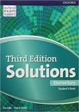 کتاب آموزشی سولوشنز المنتری ویرایش سوم Solutions Elementary 3rd Edition