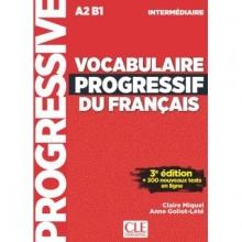 کتاب لغت  فرانسوی Vocabulaire Progressif Du Francais A2 B1 - Intermediaire - 3rd +Corriges+CD