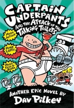کتاب زبان Captain Underpants 2 Attack of the Talking Toilets Novel