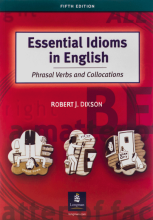 کتاب اسنشیال ایدیمز این انگلیش Essential Idioms in English Phrasal Verbs and Collocations 5th