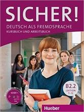 کتاب  Sicher! B2.2 Lektion 7-12 kursbuch + Arbeitsbuch + DVD