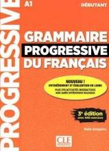 کتاب گرامر پروگرسیو فرانسه Grammaire Progressive Du Francais A1 - Debutant - 3rd +Corriges+CD
