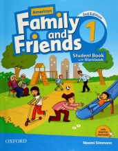 کتاب American Family and Friends 1 (2nd) SB+WB+CD سایز کوچک