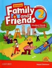 کتاب American Family and Friends 2 (2nd) SB+WB+CD سايز کوچک