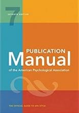 كتاب Publication Manual of the American Psychological Association Seventh Edition