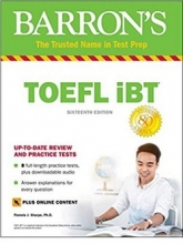 کتاب toefl ibt barrons 16th+DVD