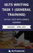 کتاب (IELTS Writing Task 1 General Training Actual Test with Sample Answers (January – April 2021