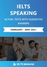 کتاب زبان آیلتس اسپیکینگ اکچوال تست فوریه تا می ۲۰۲۱ IELTS Speaking Actual Tests with Answers