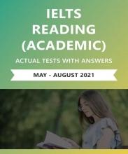 کتاب زبان  آیلتس ریدینگ آکادمیک اکچوال تست می تا آگوست ۲۰۲۱  (IELTS Reading Academic Actual Tests with Answers (May – August  20