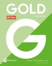 کتاب گلد ب دو فرست Gold B2 First Coursebook + Maximiser with Key