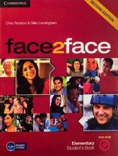 کتاب آموزشی فیس تو فیس المنتری ویرایش دوم face2face Elementary 2nd s.b+w.b+dvd