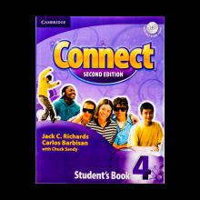 کتاب آموزشی کانکت ویرایش دوم Connect 4 Students Book, Work Book (2nd) with 2 CD