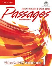 کتاب زبان Passages Level 1 video activities 3rd edition