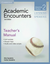 کتاب زبان آکادمیک انکونترز  Academic Encounters Level 2 Teachers Manual Listening and Speaking
