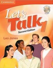 کتاب زبان Lets Talk 1 With CD Second Edition