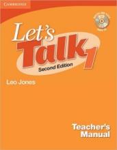 کتاب زبان Lets Talk 1 Teachers Manual With CD Second Edition