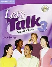 کتاب لتز تاک ویرایش دوم Lets Talk 3 With CD Second Edition