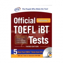 کتاب ای تی اس آفیشیال تافل آی بی تی ETS Official TOEFL iBT Tests 3rd - Volume 1+ DVD