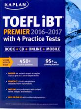 کتاب زبان Kaplan TOEFL iBT Premier 2016-2017 with 4 Practice Tests with CD
