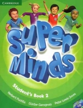 کتاب سوپر مایندز Super Minds Level 2 (S.B+W.B)+DVD