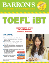 کتاب تافل بارونز Barrons TOEFL iBT 15th+DVD