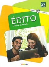 کتاب فرانسه اديتو Edito 2 niv.A2 + Cahier + DVD