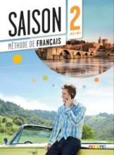 کتاب آموزشی فرانسه Saison niveau 2 A2/B1 - livre de l'eleve + cahier + dvd