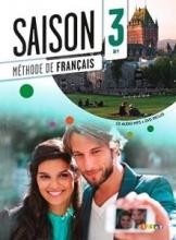 کتاب آموزشی فرانسوی Saison niveau 3 B1 - livre de l'eleve + cahier + dvd