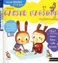 """کتاب زبان """"mon cahier magique ; maternelle grande section ; 5/6ans"""""""
