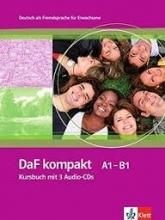 کتاب آلمانی داف کامپکت DaF kompakt Kursbuch + Ubungsbuch A1 - B1 سیاه و سفید