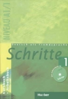 کتاب زبان Deutsch als fremdsprache Schritte 1 NIVEAU A 1/1 Kursbuch + Arbeitsbuch