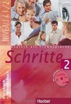 کتاب زبان Deutsch als fremdsprache Schritte 2 NIVEAU A 1/2 Kursbuch + Arbeitsbuch