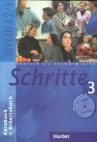 کتاب زبان Deutsch als fremdsprache Schritte 3 NIVEAU A 2/1 Kursbuch + Arbeitsbuch