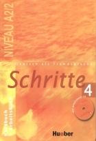 کتاب زبان Deutsch als fremdsprache Schritte 4 NIVEAU A 2/2 Kursbuch + Arbeitsbuch