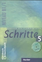 کتاب زبان Deutsch als fremdsprache Schritte 5 NIVEAU B 1/1 Kursbuch + Arbeitsbuch