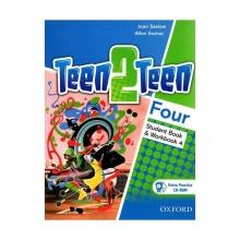 کتاب تین تو تین چهار (Teen 2 Teen Four (SB+WB+DVD