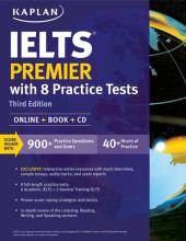 کتاب زبان Kaplan IELTS Premier with 8 Practice Tests 3rd+CD