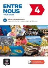 کتاب فرانسه آدخ نو Entre nous 4 B2 - Livre de l'élève + Cahier d'activités + CD audio