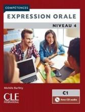 کتاب فرانسه اکسپقسیون اقل ویرایش دوم Expression orale 4 - Niveau C1 + CD - 2eme edition