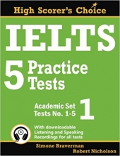 کتاب زبان IELTS 5 Practice Tests, Academic Set 1: Tests No. 1-5