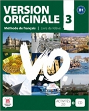 کتاب آموزشی فرانسوی Version Originale 3 + CD audio + DVD